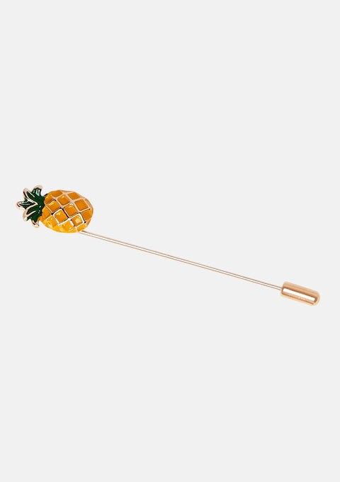 Gold Pineapple Lapel Pin