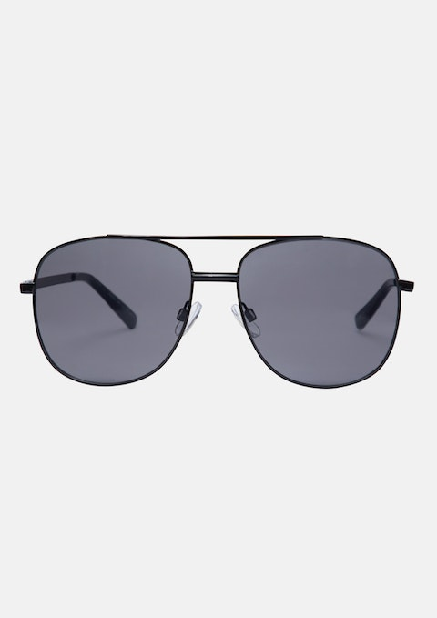 Black Chuck Aviator Sunglasses