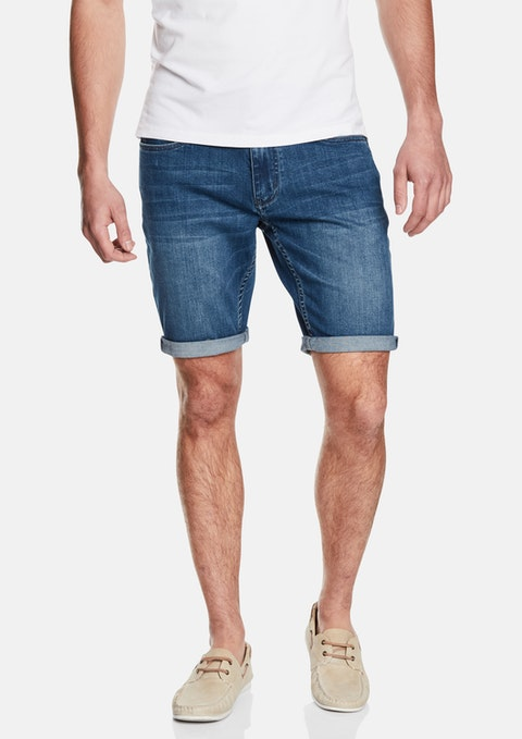 Mid Blue Kenny Denim Short