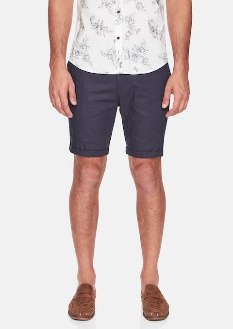 Navy Santorini Linen Short