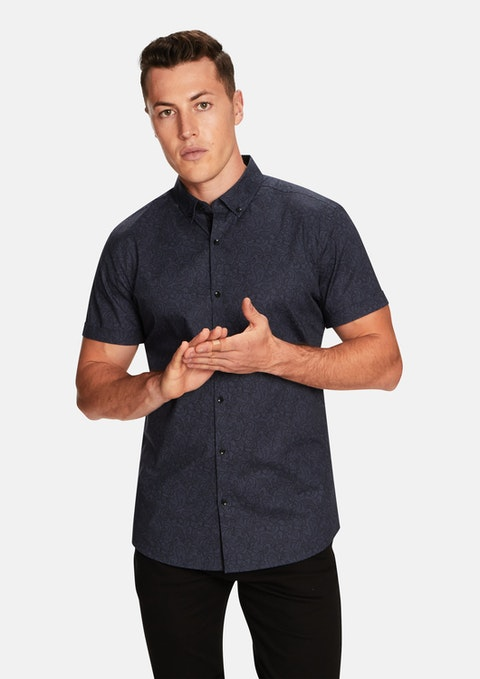 Steel Clint Paisley Ss Shirt