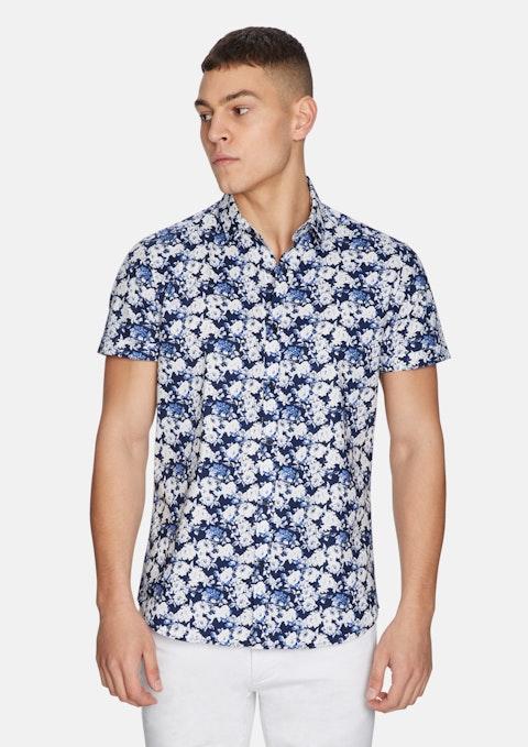 Blue Vito Floral Shirt