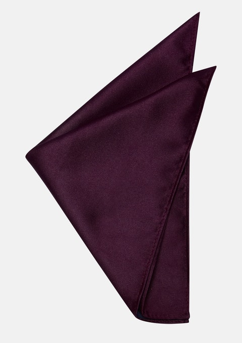 Burgundy Matte Satin Pocket Square