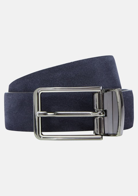 Navy/black Tuscan Suede Dress Belt