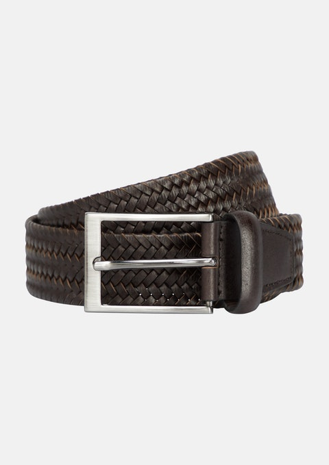 Chocolate Braided Belt