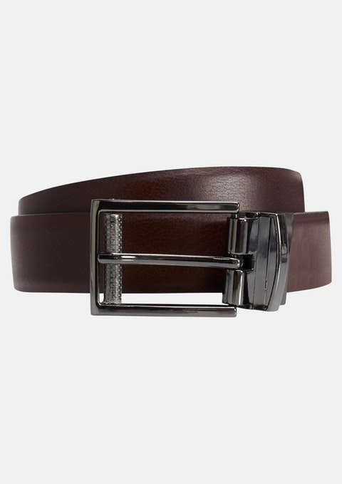 Black Chocolate/ Black Maguire Reversible Belt