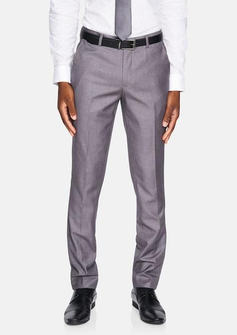 Silver Carrera Skinny Dress Pants