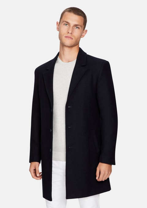 Dark Blue Brandon Duster Jacket