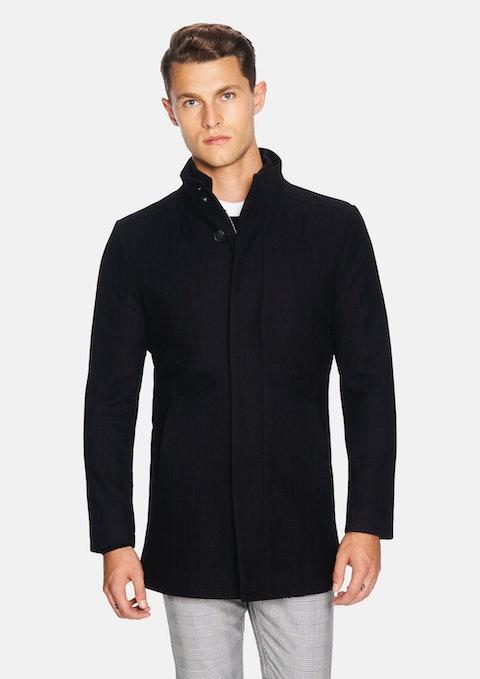 Black Tyson Melton Jacket