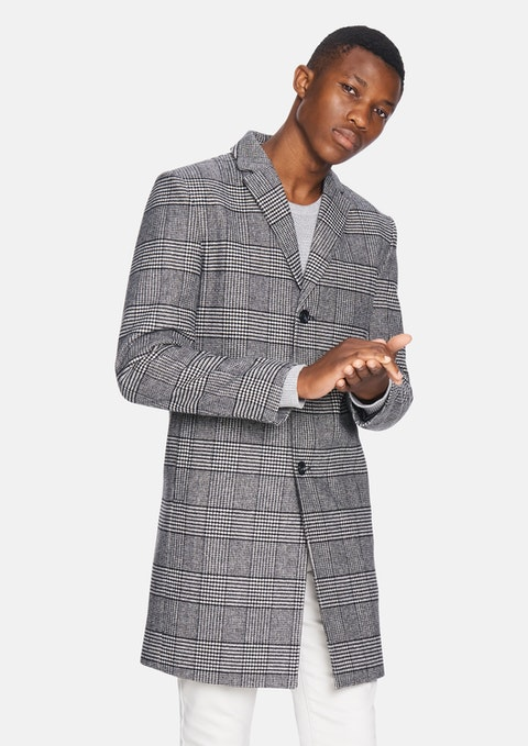 Black Check Mayfair Check Duster Jacket