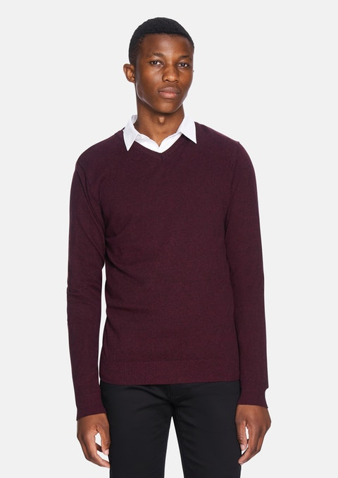 Port Shay V Neck Lightweight Knit