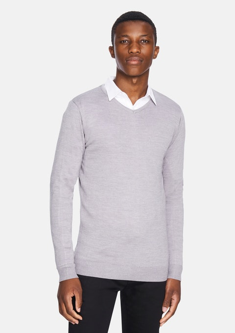 Grey Golburn Wool Blend Knit