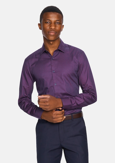 Grape Jay Slim Dress Shirt