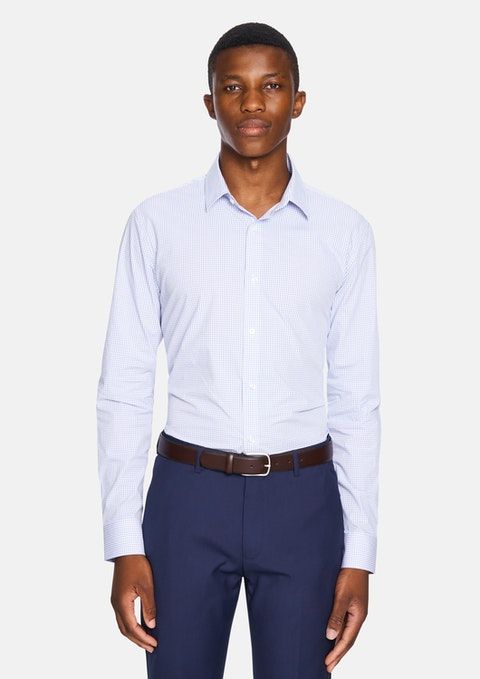 Blue Winston Slim Dress Shirt
