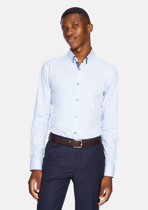 Light Blue Tank Slim Dress Shirt