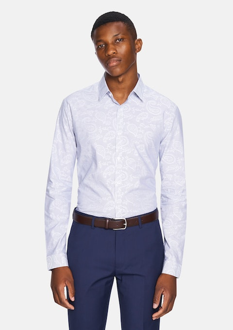 Blue Webston Slim Dress Shirt
