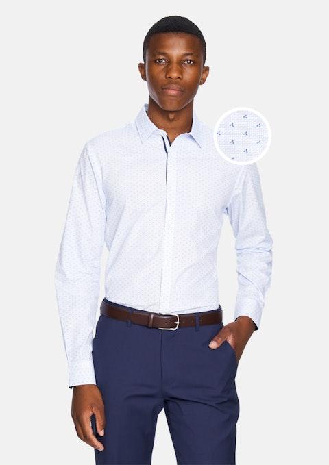 Light Blue Kitano  Slim Fit Dress Shirt