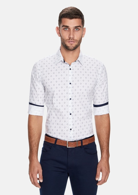 White Niseko Slim Fit Shirt