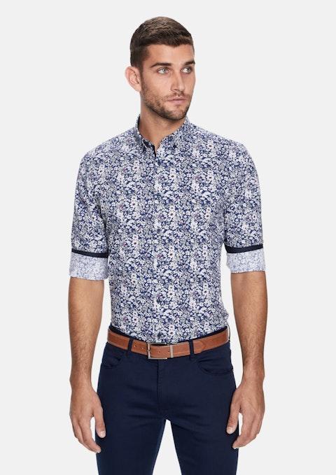 Blue Print Kitz Floral Print Slim Shirt