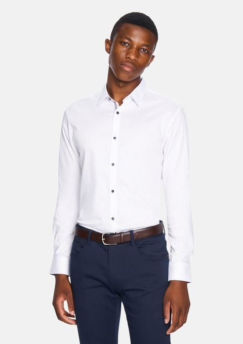 White Valloire Slim Shirt