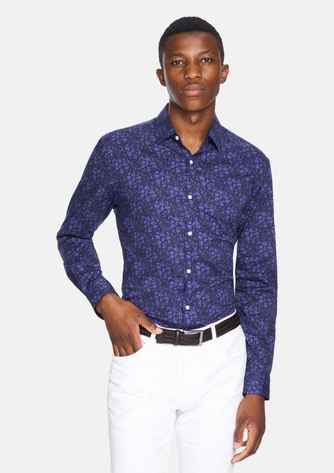 Blue Bandit Floral Slim Fit Shirt