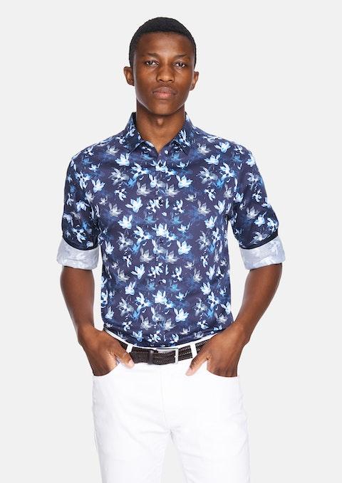 Dark Blue Samson Slim Shirt
