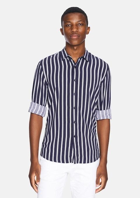 Dark Blue Ripe Stripe Shirt
