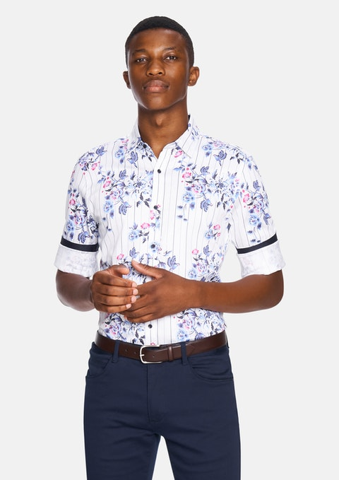 White Levi Slim Fit Shirt