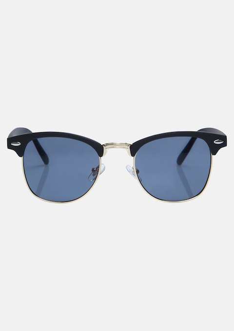 Gold Retro Mat Sunglasses