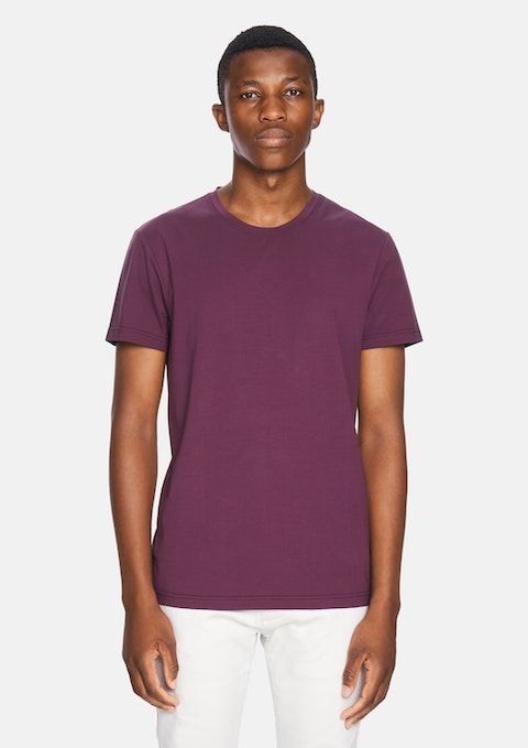 Burgundy Premium Cotton Tee