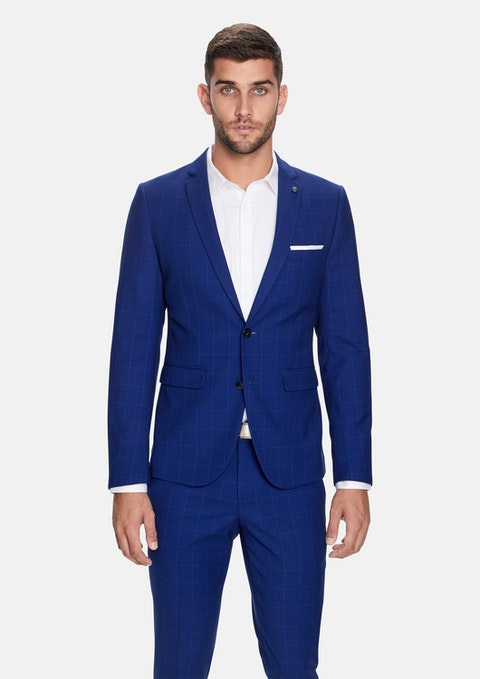 Blue Marshall Skinny Suit Jacket