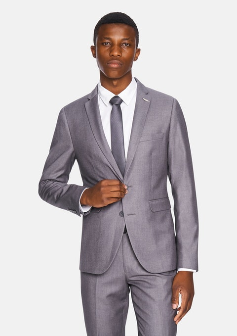 Silver Carrera Skinny Suit Jacket