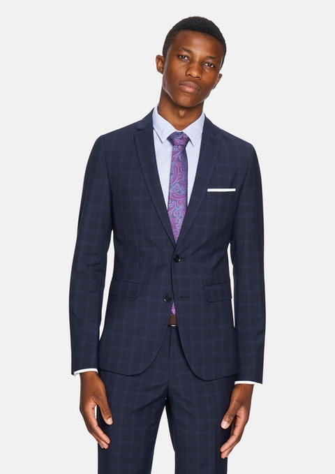 Ink Rio Skinny Check Suit Jacket