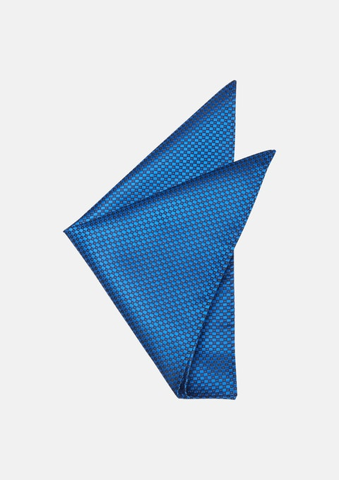 Cobalt Diamond Design Pocket Square
