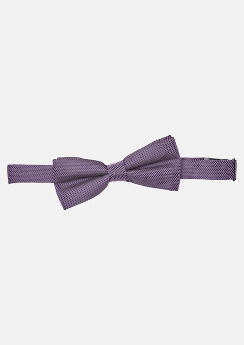 Lilac Terry Texture Bowtie