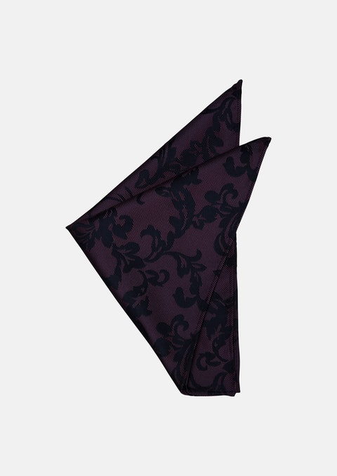 Fuschia Ornate Design Pocket Square