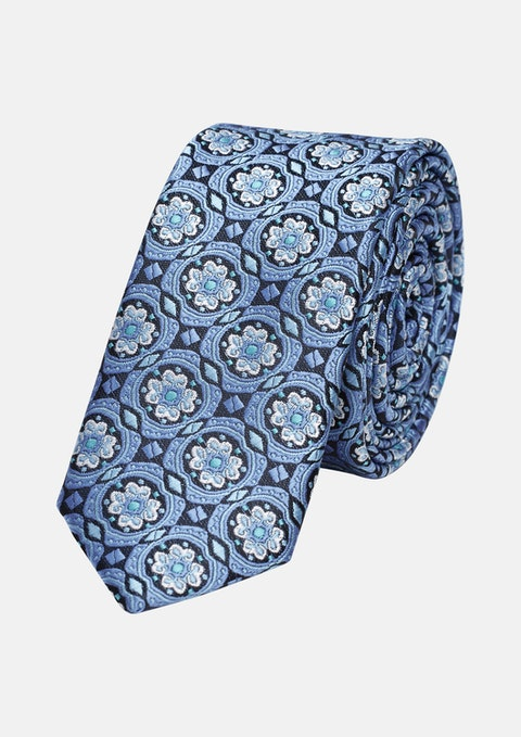 Blue Fancy 5cm Tie