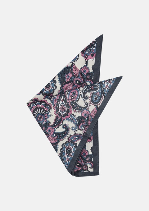 White Cheval Pocket Square