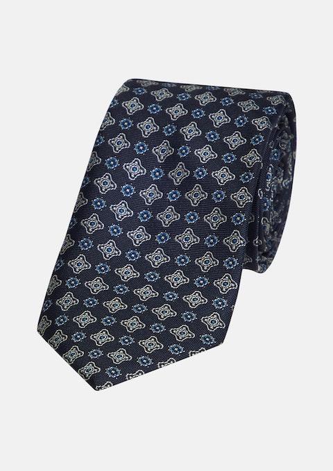 Dark Blue Thomas Tile 6.5cm Tie