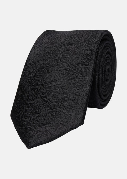 Black Riccardo 6.5cm Tie