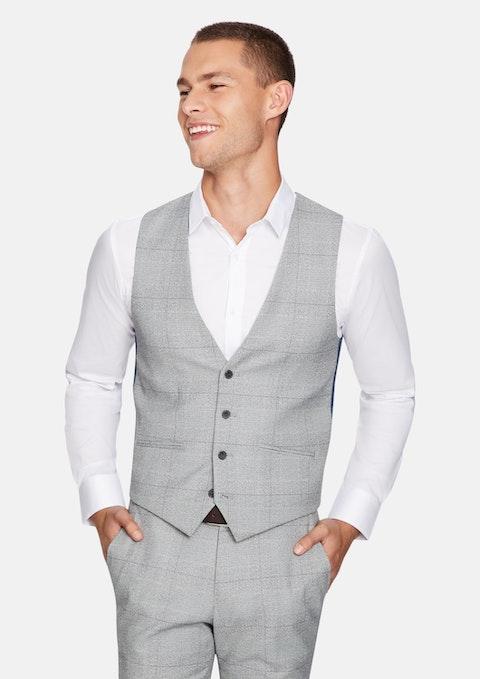 Grey Winston Check Waistcoat