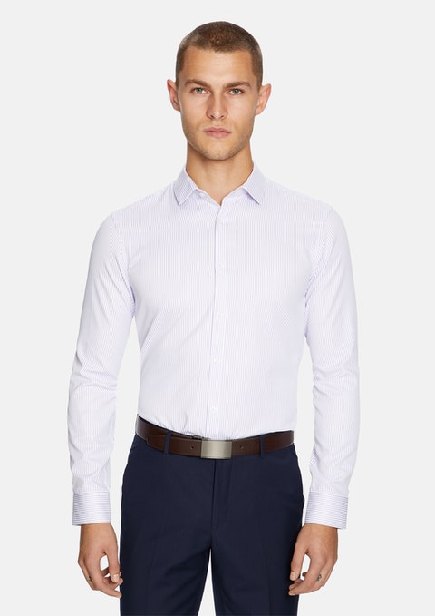 Lilac Halifax Slim Dress Shirt