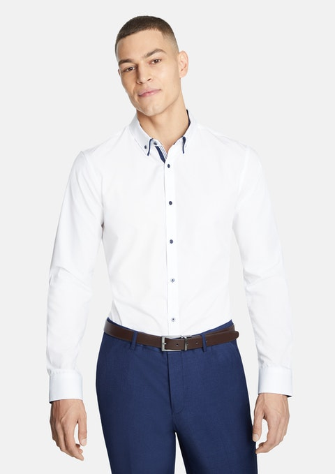 White Oliver Slim Dress Shirt