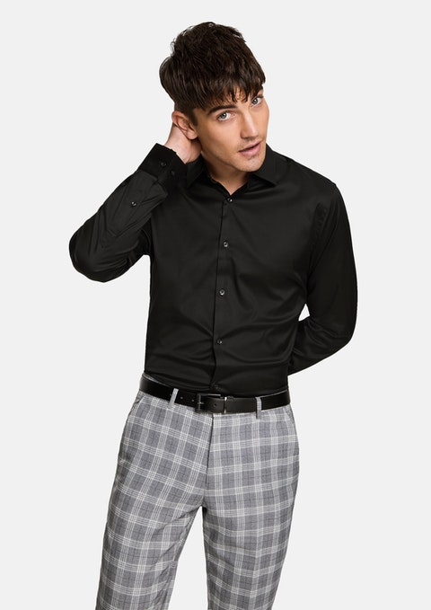 Black Axe Slim Dress Shirt