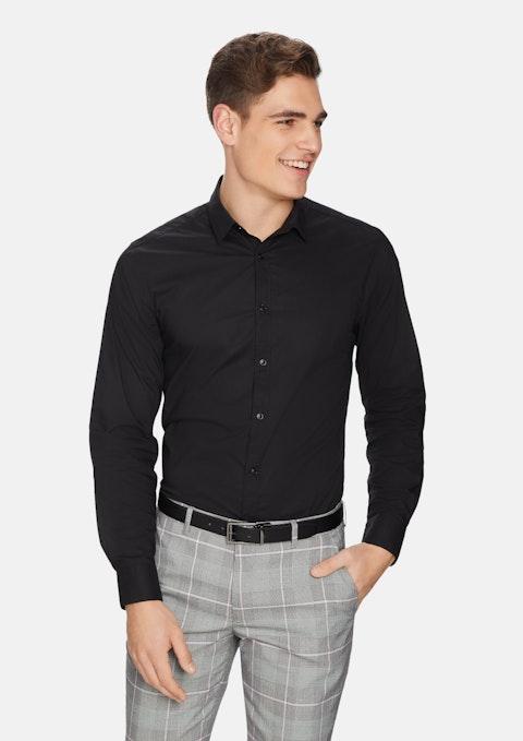Black Largo Slim Fit Dress Shirt