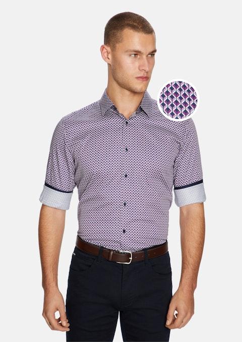 Burgundy Torres Geo Slim Shirt