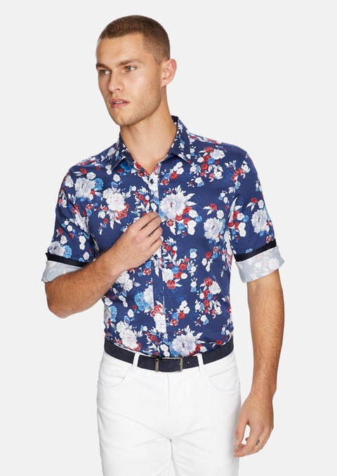 Multi Salvador Floral Slim Shirt