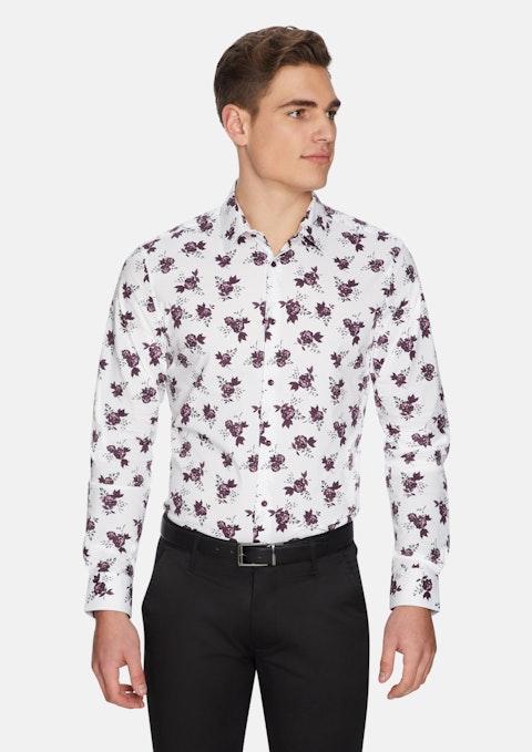 White Marseille Floral Shirt