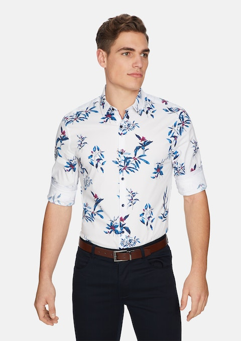 White Bahama Slim Shirt