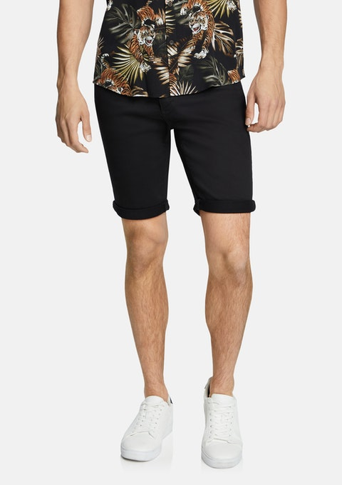 Black Herston Chino Short